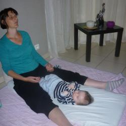 séance de relaxation de maman